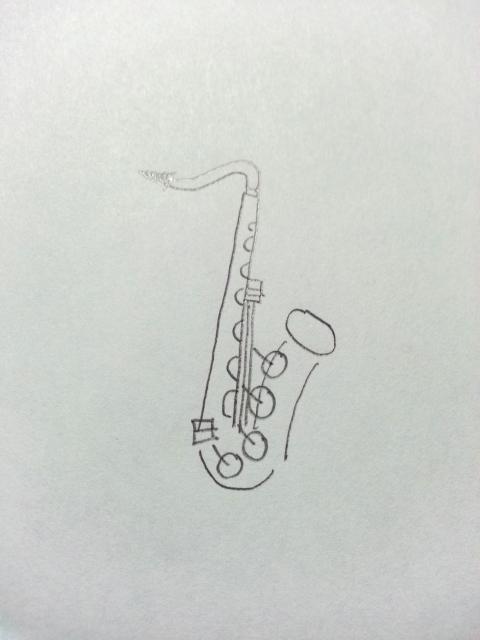 ファゴットのイラストの描き方の例 Music日記みやだい